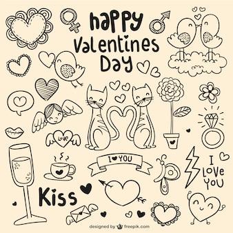 Happy valentine's day doodles