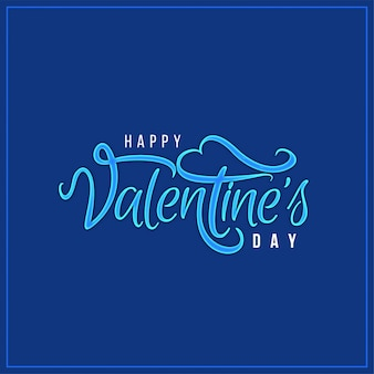 Happy valentine's day elegant blue background