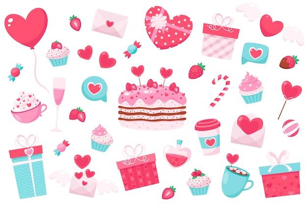 Happy valentine's day elements