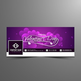 Happy valentine's day facebook timeline banner template