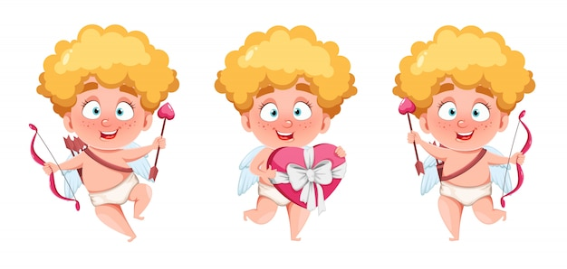Happy valentine's day. funny cupid kid