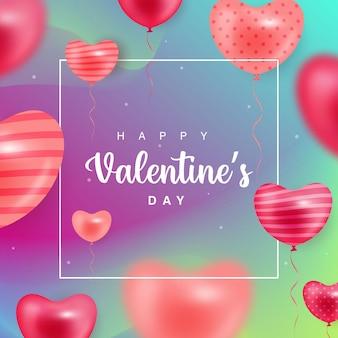 Happy valentine's day gradient background