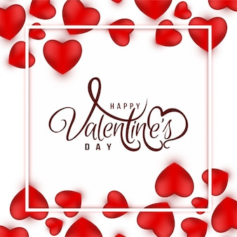 Happy valentine's day greeting background