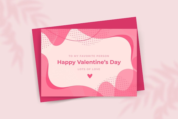 Happy valentine's day greeting card template
