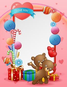 Поздравительная открытка с днем святого валентина