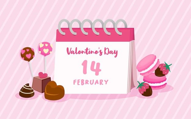 Happy valentine's day greeting  illustration.