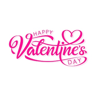Happy valentine's day hand drawn lettering