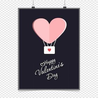 Happy valentine's day heart balloon