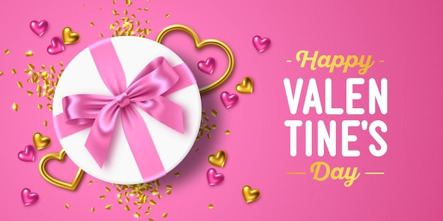 Happy valentine's day holiday greeting card design