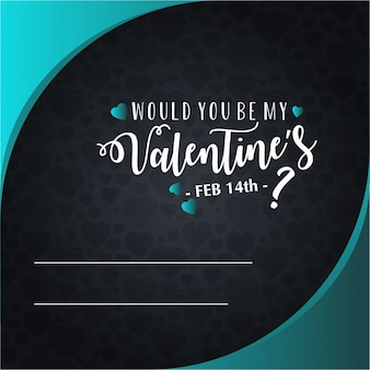 Happy valentine's day invitation card