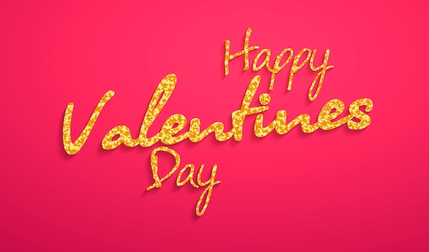 Happy valentine s day lettering card. vector illustration.