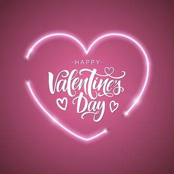 Happy valentine's day lettering.