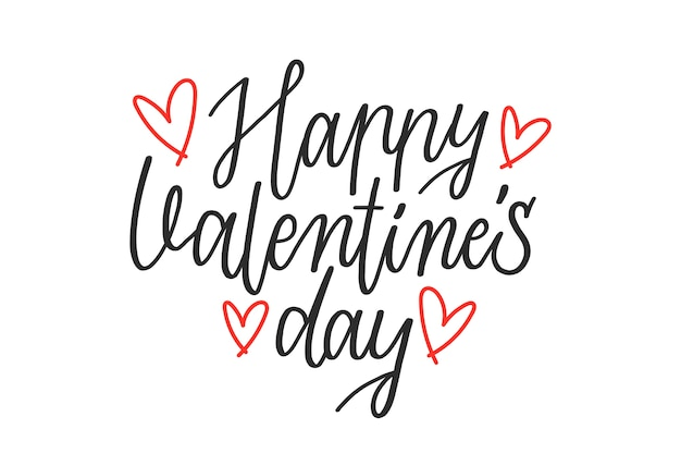 Happy valentine's day lettering