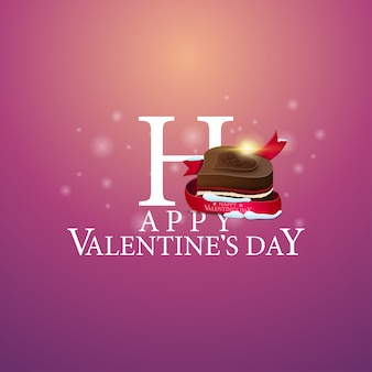 Happy valentine's day - logo with candy