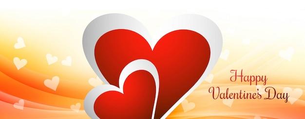 Happy valentine's day love card header background vector