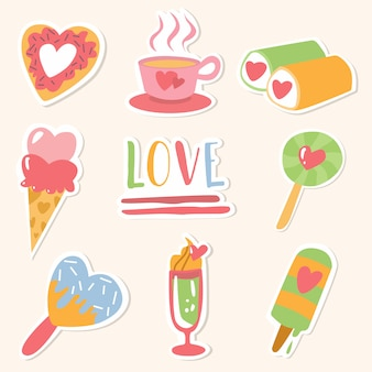 Happy valentine's day pack of love stickers