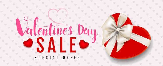 Happy valentine's day,pink watercolor style,sale promotion banner