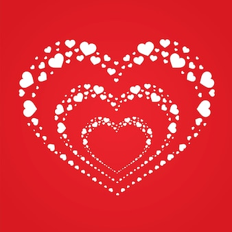Happy valentine's day on the red background