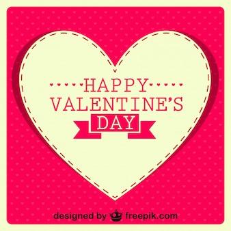 해피 발렌타인 레트로 카드 디자인