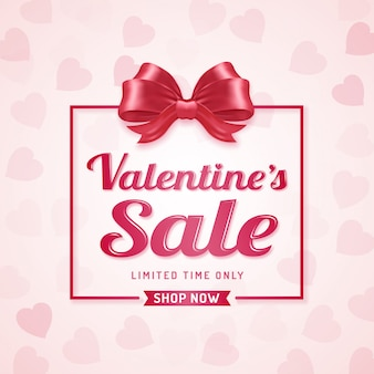 Happy valentine's day sale discount banner template