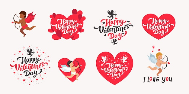 Happy valentine's day set