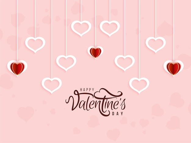 Happy valentine's day simple background