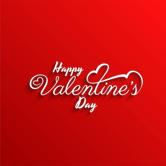 Happy valentine's day stylish red background