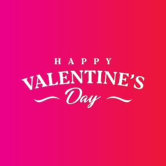 Happy valentine's day template design