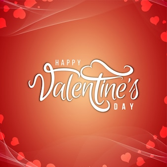 Happy valentine's day text design background