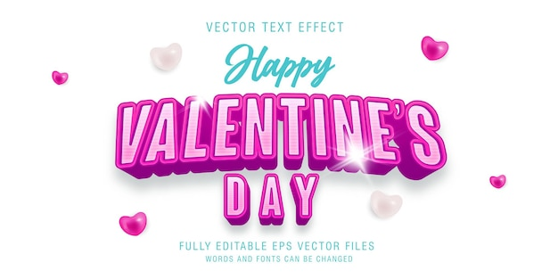 Happy valentine's day text style effect