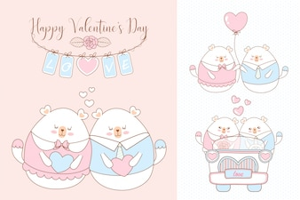 С Днем Святого Валентина с мишкой
