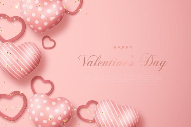 С днем святого валентина с выцветшим розовым