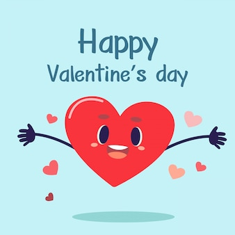 Happy valentine's day with heart
