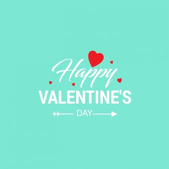Happy valentine's day with light background