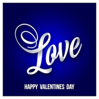 Happy valentine's day with love and dark purple background
