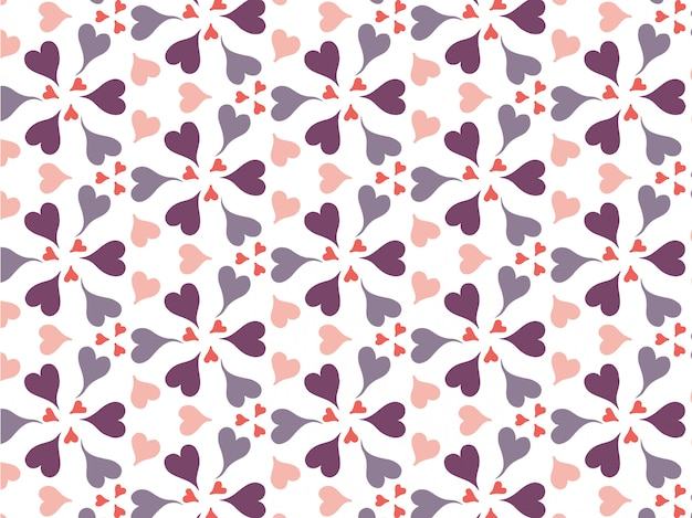 Happy valentine's day with patterns background vector.