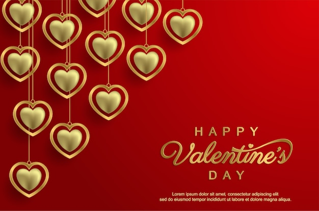 Happy valentine's day with realistic love