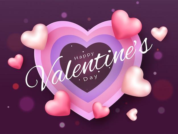 Happy valentine's day шрифт карта
