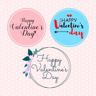 Happy valentine's dayでフレームにラベルを付ける