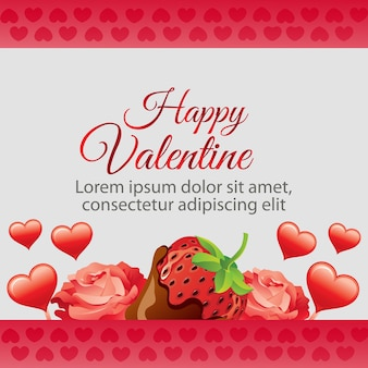 Счастливая валентина клубника