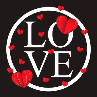 ハッピーバレンタインデーと除草デザイン要素