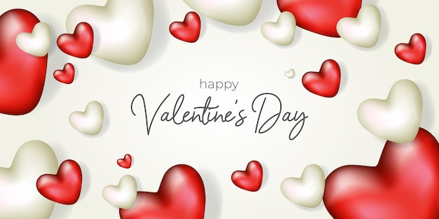 Happy valentines day background illustration design
