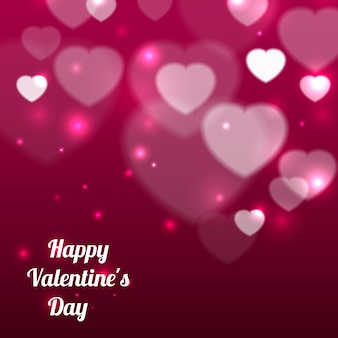 Happy valentines day background with hearts and text. vector illustration