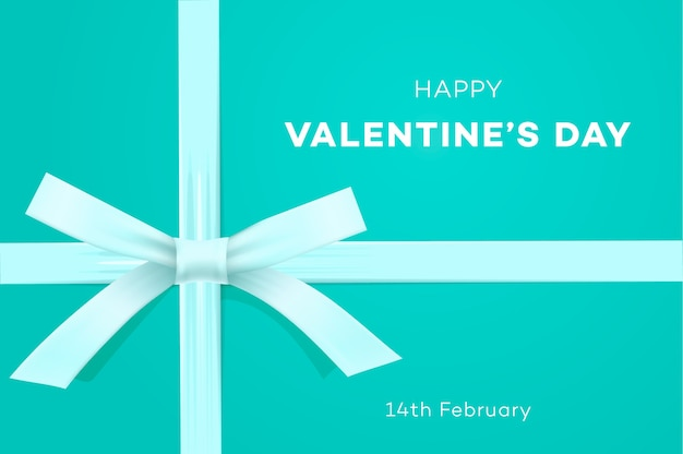 Happy valentines day banner sweet tiffany blue background