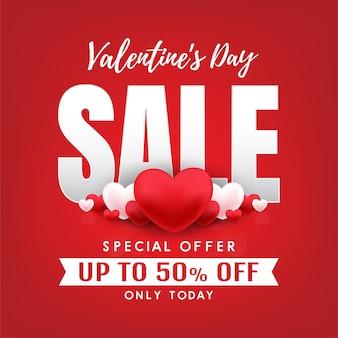 Happy valentines day banner vector design