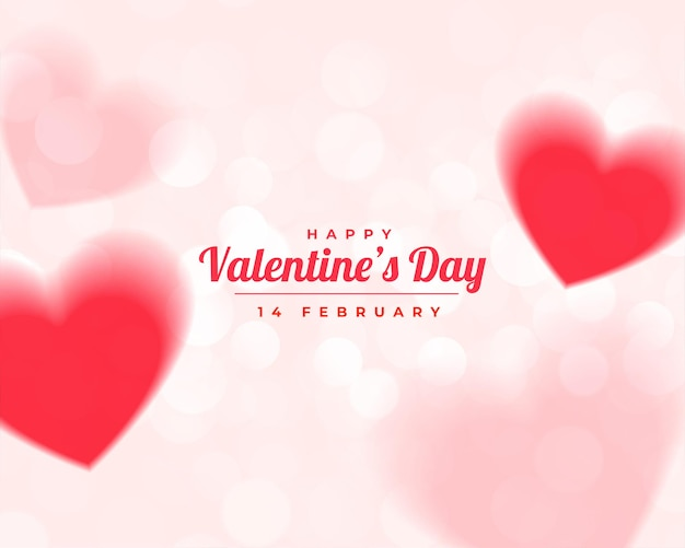 Buon san valentino sfocatura cuori belli