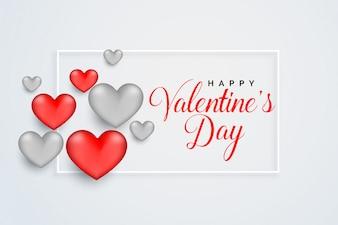 Счастливый дизайн поздравительной открытки празднования Дня святого Валентина
