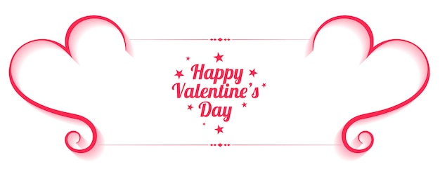 Happy valentines day decorative banner lovey