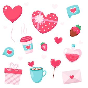 幸せなバレンタインデーの要素