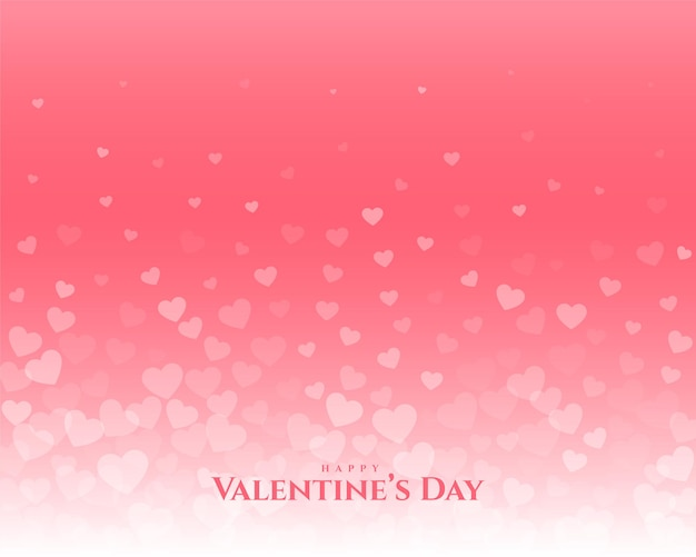 Happy valentines day floating hearts greeting design